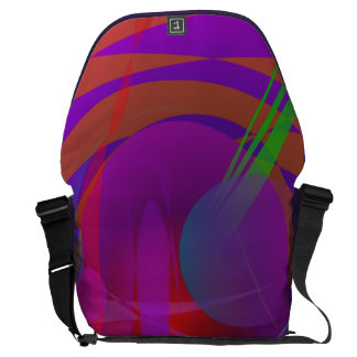 Abstract Cat's Face Messenger Bags