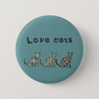 Abstract cats - love cats button