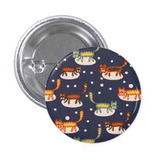 Abstract Cats On Clouds Pinback Button