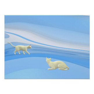 Abstract Cats Poster