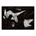 Abstract Cave Drawing Card
