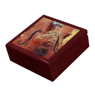 Abstract Cello Bridge Jewelry Box