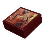 Abstract Cello Bridge Jewelry Boxes