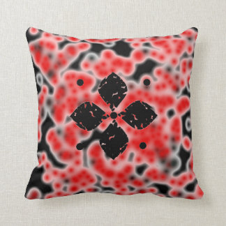 Abstract cells and flowers throw pillow