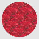 Abstract Center of Red Rose Wallpaper Classic Round Sticker