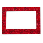 Abstract Center of Red Rose Wallpaper Picture Frame Magnet