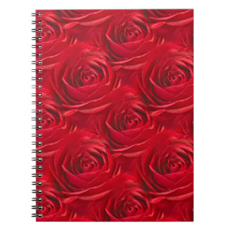 Abstract Center of Red Rose Wallpaper Notebooks