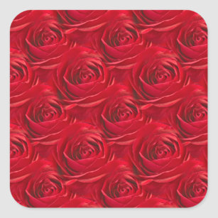 Abstract Center Of Red Rose Wallpaper Square Sticker