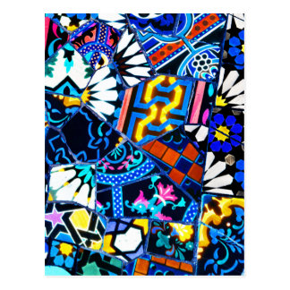 Abstract ceramic background postcard