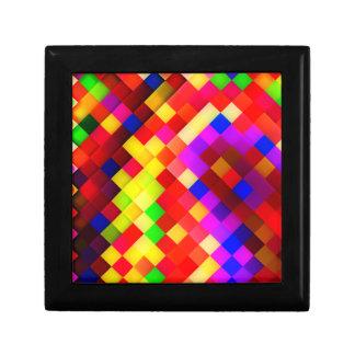 Abstract Ceramic Wall Tiles: Hyperactive Rainbow Keepsake Box
