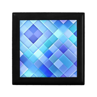 Abstract Ceramic Wall Tiles: Shade of True Blue Jewelry Box