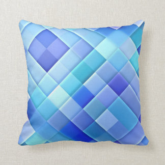 Abstract Ceramic Wall Tiles: Shade of True Blue Pillow