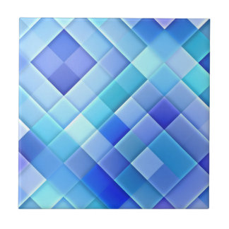Abstract Ceramic Wall Tiles: Shade of True Blue Tile