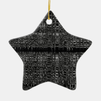 Abstract chain pattern ceramic ornament