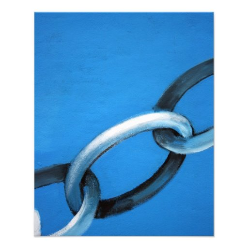 Abstract - chain photo print