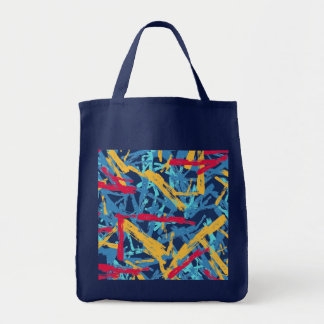 Abstract chalk bright painted pattern tote bag