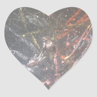 Abstract Chalk Heart Sticker