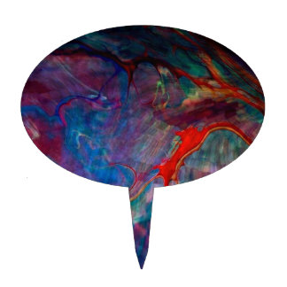 abstract chaos, colorful cake topper