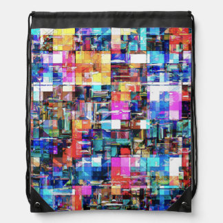 Abstract Chaos of Colors Drawstring Backpack
