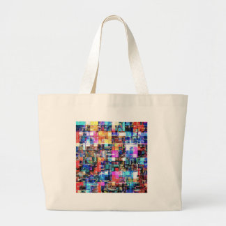 Abstract Chaos of Colors Large Tote Bag
