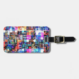 Abstract Chaos of Colors Luggage Tag