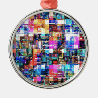 Abstract Chaos of Colors Metal Ornament