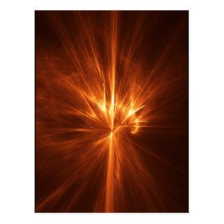 abstract chaos power fire burst postcard
