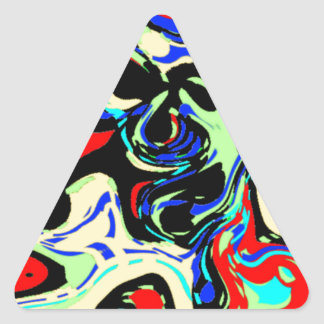 Abstract Chaos Triangle Sticker