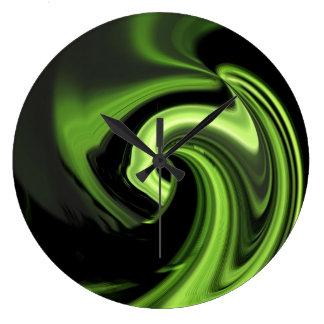 Abstract Chartreuse Green Heart Wall Clock