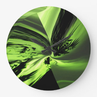 Abstract Chartreuse One Wall Clock