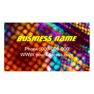 Abstract Checkered Pattern Fractal Flame Business Card Templates