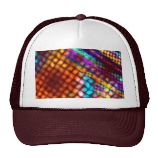 Abstract Checkered Pattern Fractal Flame Trucker Hat