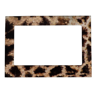 Abstract Cheetah Magnetic Photo Frame