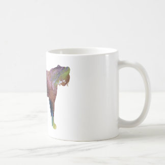 Abstract Cheetah Silhouette Coffee Mug