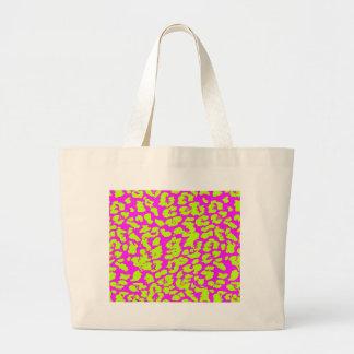 Abstract Cheetah Spots Colorful Tote Bag