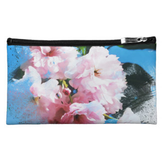 Abstract Cherry Blossom Makeup Bag