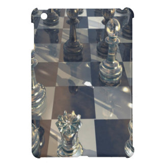 Abstract Chess Glass Board iPad Mini Case