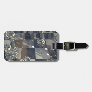 Abstract Chess Glass Board Bag Tags