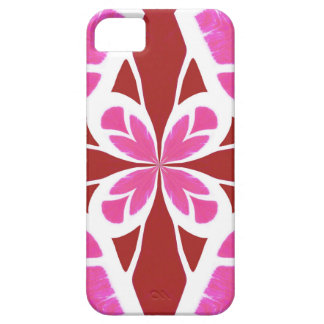 Abstract Chic Floral Goddess Geometric Pattern red iPhone 5 Covers