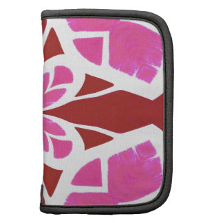 Abstract Chic Floral Goddess Geometric Pattern red Organizer