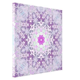 abstract chic girly pattern pastel purple damask canvas print
