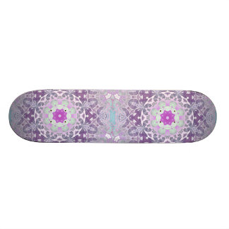 abstract chic girly pattern pastel purple damask skate boards