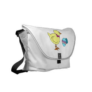 abstract chick two eggs courier bag