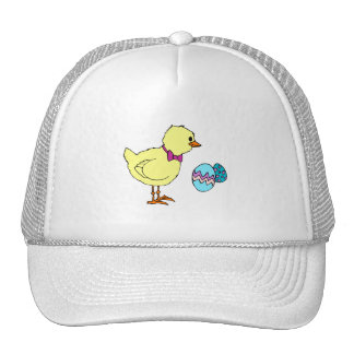 abstract chick two eggs trucker hat