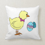 abstract chick two eggs throw pillows