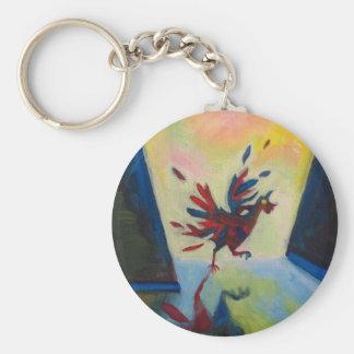 Abstract Chicken Keychain