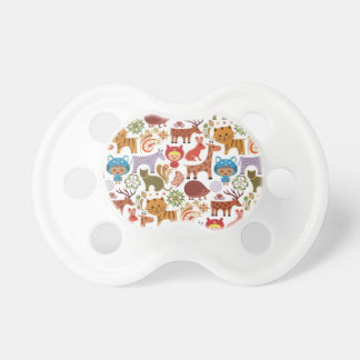 Abstract Child and Animals Pattern Pacifier