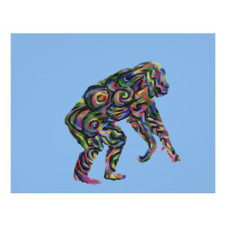 Abstract Chimpanzee Poster