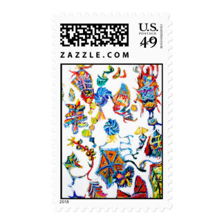 Abstract Chinese Calendar Postage Stamp