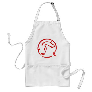 Abstract Chinese New Year of The Rabbit Aprons
